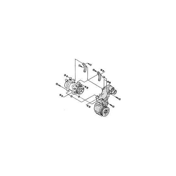 40-4218 - Compressor MountChevrolet R-4 to Sanden Compressor Adapter Bracket