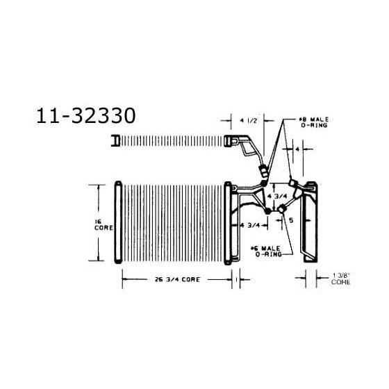 Condenser Oldsmobile, Toronado, 85-79 11-32330