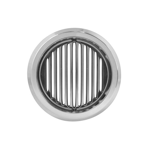 Louver Billet Round Vent W/ Belved Frame, 2 3/4 Di