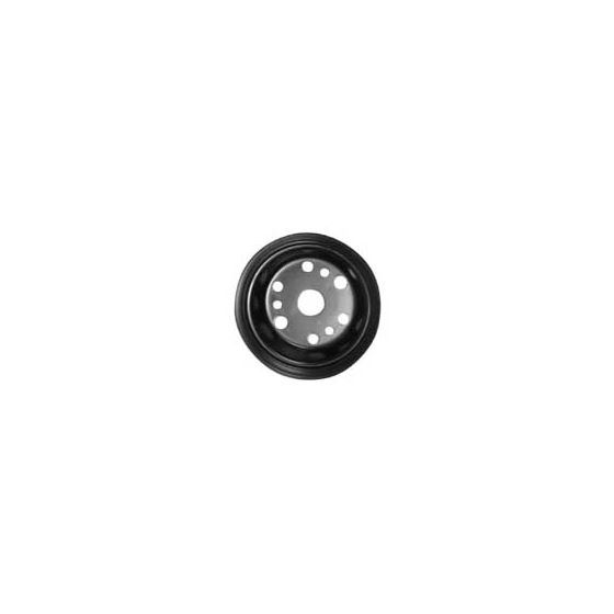 Pulley Black GM Steel, 2 Groove Crankshaft 100-2CR