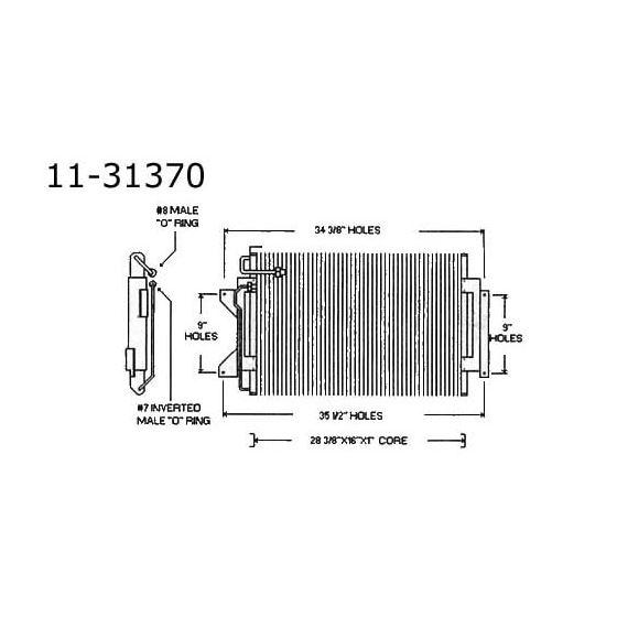 Condenser Cadillac, 65-67 11-31370