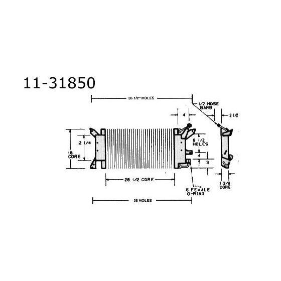 Condenser Pontiac, Firebird All, 70-71 11-31850