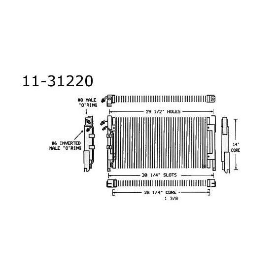 Condenser Buick, Electra, 65-68 11-31220