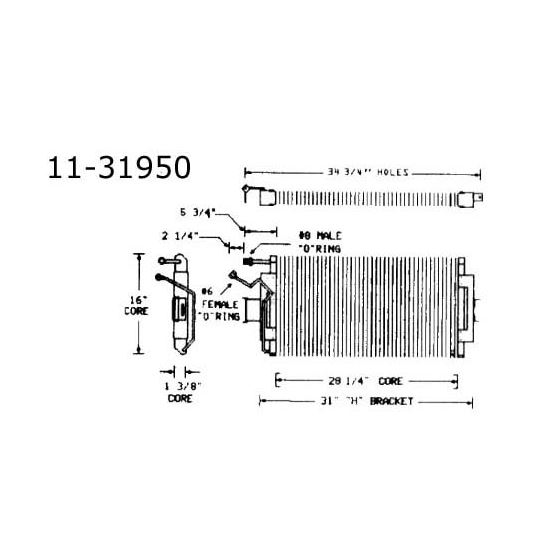 Condenser Oldsmobile, All w/ VIR, 73 11-31950
