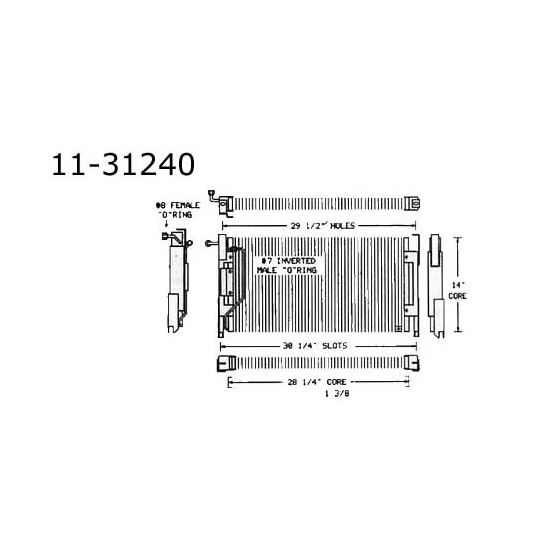Condenser Buick, 70 11-31240